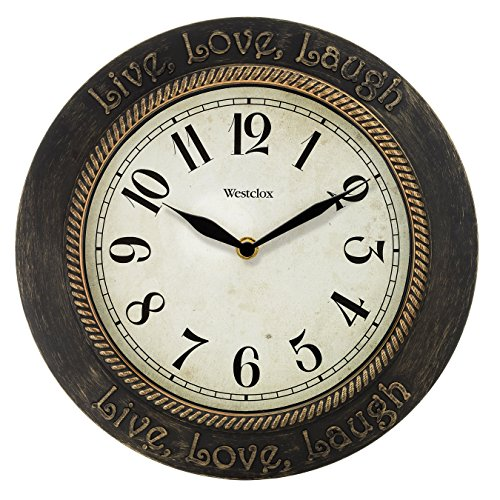 Westclox 11 in. Live Love Laugh Wall Clock