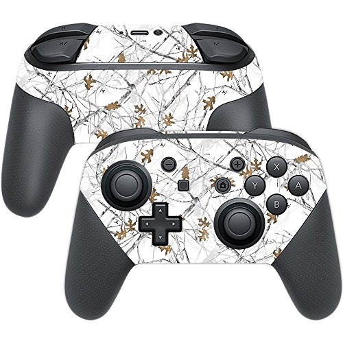 MightySkins Skin Compatible with Nintendo Switch Pro Controller - Conceal Snow | Protective, Durable, and Unique Vinyl Decal wrap Cover | Easy to Apply, Remove, and Change Styles | Made in The USA
