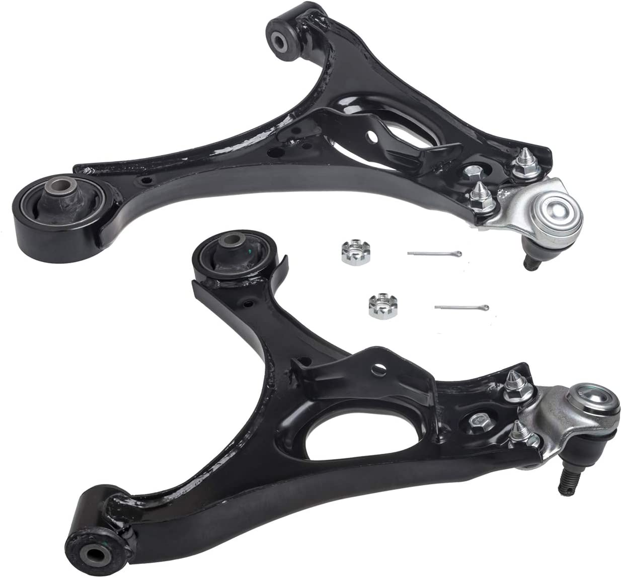 Fits 1.8L and 1.3L Acura CSX Driver Passenger Side Suspension TUCAREST 2Pcs K620382 K620383 Left Right Front Lower Control Arm and Ball Joint Assembly Compatible With 06 07 08 09 10 11 Honda Civic