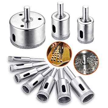 UK 16pcs 6-50mm Set Tile Ceramic Glass Diamond Cutter Hole Saw Drill Bit Tool