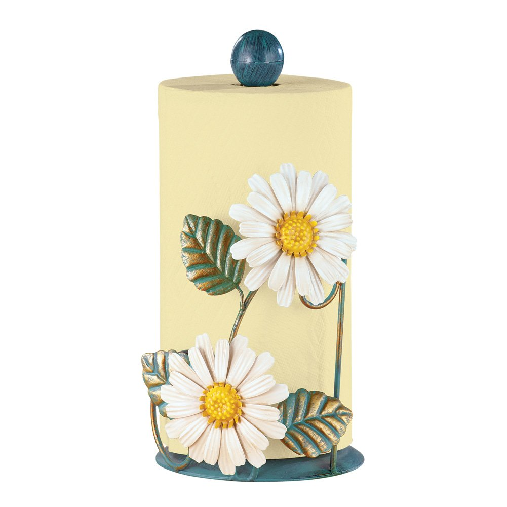 Amazon.com: Antique Daisies Paper Towel Roll Holder, Hand-Painted ...