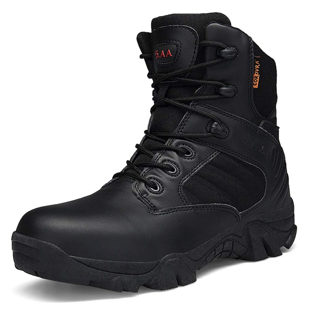 SUNSEE WOMEN'S CLOTHES PROMOTION Men Wear-Resisting Non-Slip, Outdoor Climbing Hiking Boots Combat Military Boots (7.5, Black)