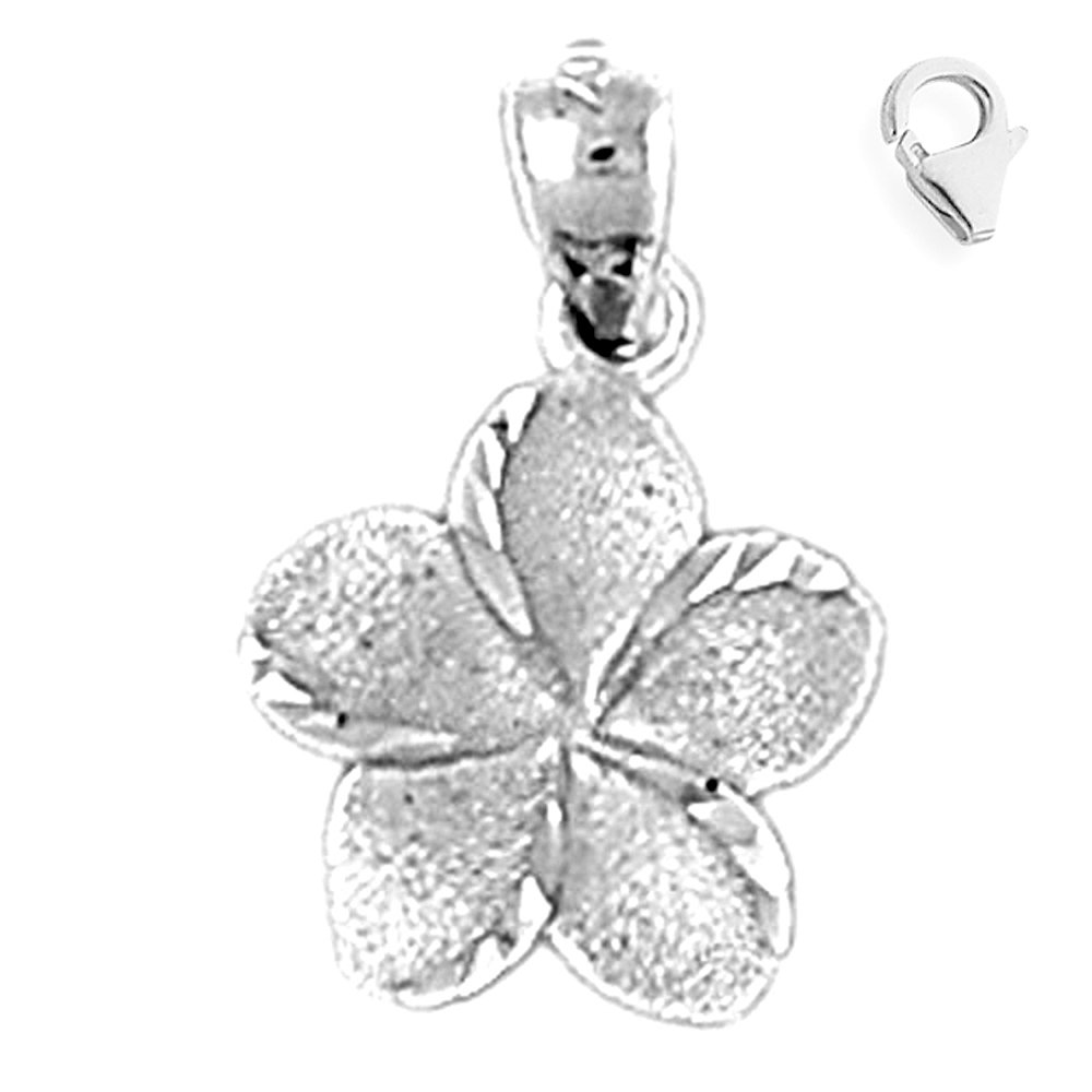 JewelsObsession Sterling Silver 20mm Flower Charm w//Lobster Clasp