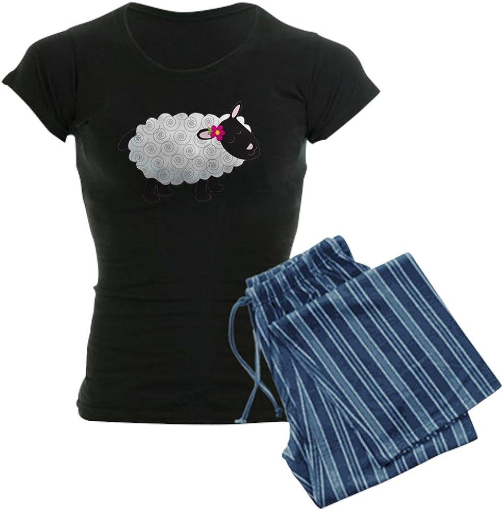 CafePress Little Lamb Womens Dark Pajamas Womens PJs