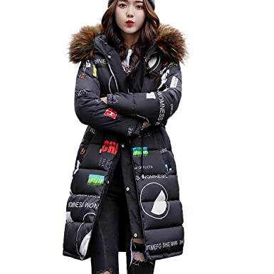 1a2a6f13082 Image Unavailable. Image not available for. Color  Qingfan Super Warm Long  Coat Fur Collar Hooded Jacket Slim Winter ...