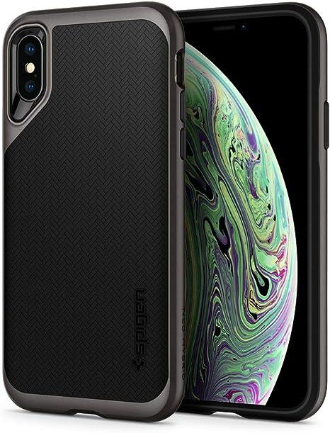 Spigen Neo Hybrid Hülle Kompatibel Mit Iphone Xs Und Kompatibel Mit Iphone X Gunmetal Elektronik