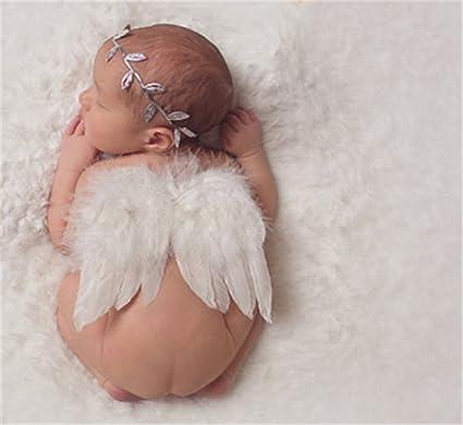 Interesting® recién nacidos apoyos de la fotografía del bebé infantil Ángel blanco de la pluma de las alas de la pluma del apoyo de la foto Alas ...
