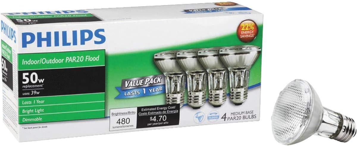 Philips PAR20 Halogen Floodlight Light Bulb - 1 Each