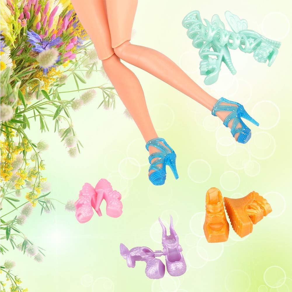 Poupées CHAUSSURES glitzerschuhe Pantoufles Ballerines Fête Chaussures 7,5 cm de long Nº 2211