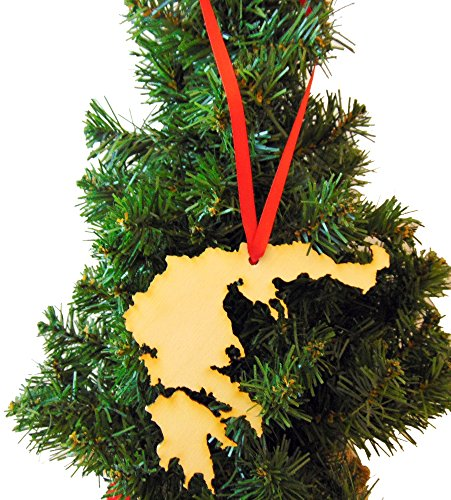 Westman Works Greece Wooden Christmas Ornament Boxed Wood Greek Decoration Made in the USA by Westman Works (Image #1)