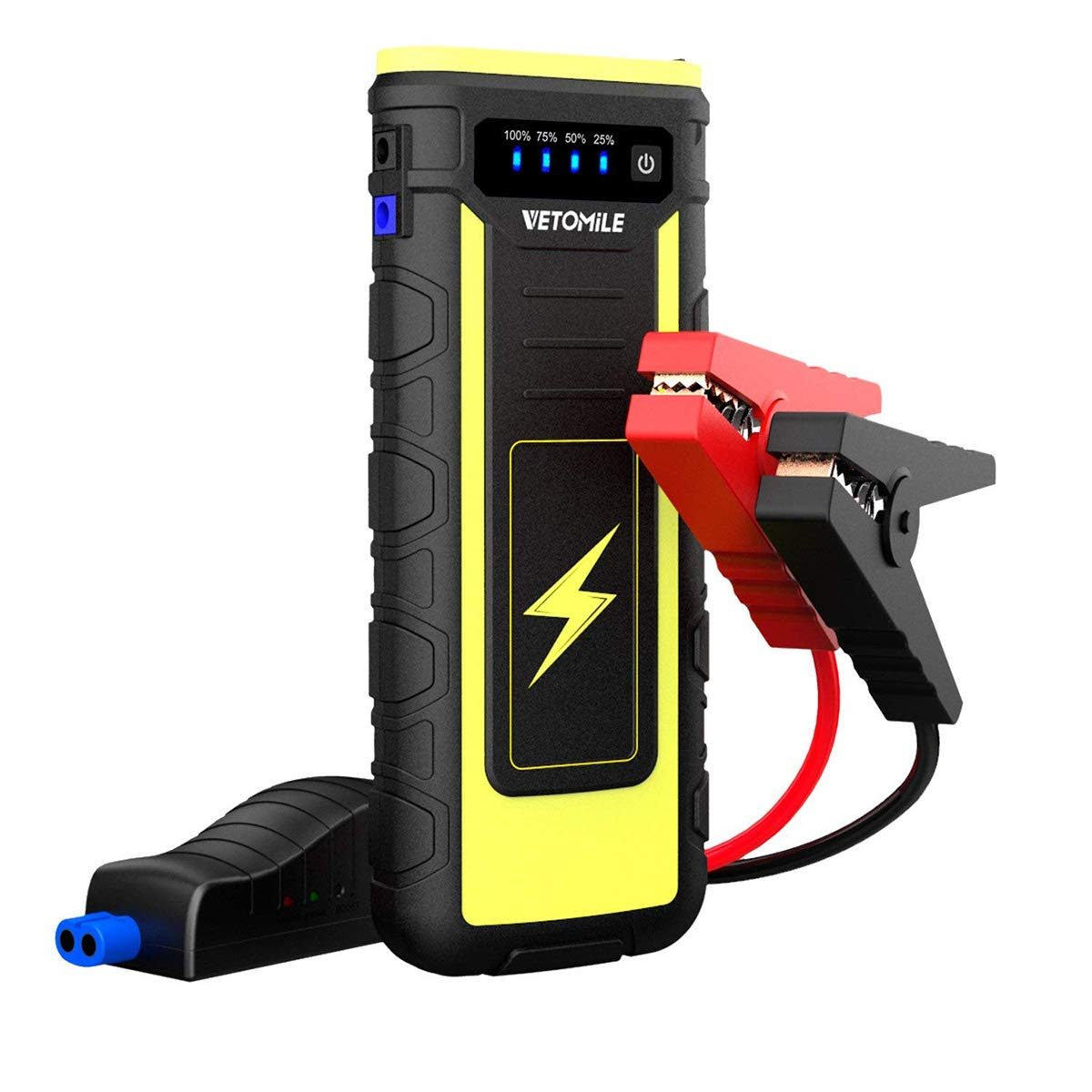 VETOMILE 800A Peak Car Jump Starter Booster Portable 21000mAH Auto Battery Charger Power Bank with USB charge Port and Flashlight,for Engines up to 6.5L Gas and 3.0L Diesel or Pickup Truck by VETOMILE