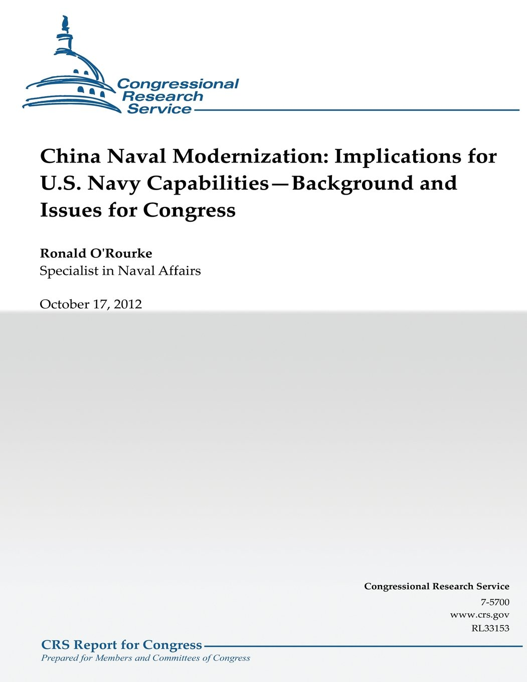 China Naval Modernization: Implications for U.S. Navy Capabilities--Background and Issues for Congress ebook