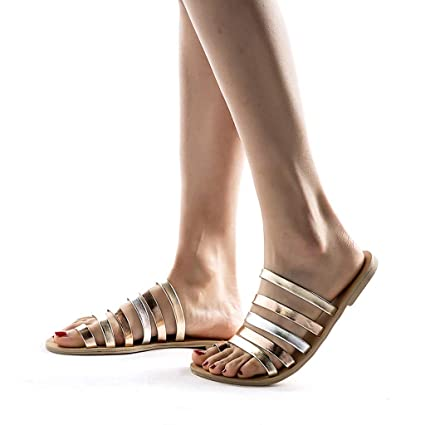 fa4ba86749cbc Amazon.com: Women's Sandals Bummyo Ladies Sandals Fashion Tie Flat ...