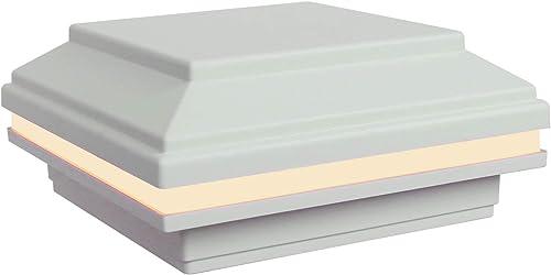 Tru-Scapes 4.5 x 4.5 LED Post Cap Light That fits a Trex Transcend Deck Post White