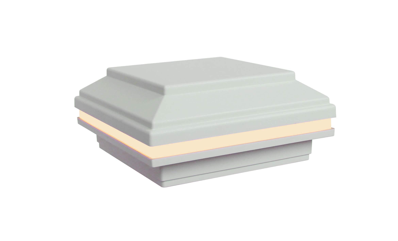 Tru-Scapes 4.5'' x 4.5'' LED Post Cap Light That fits a Trex Transcend Deck Post (White) by Tru-Scapes Deck Lighting