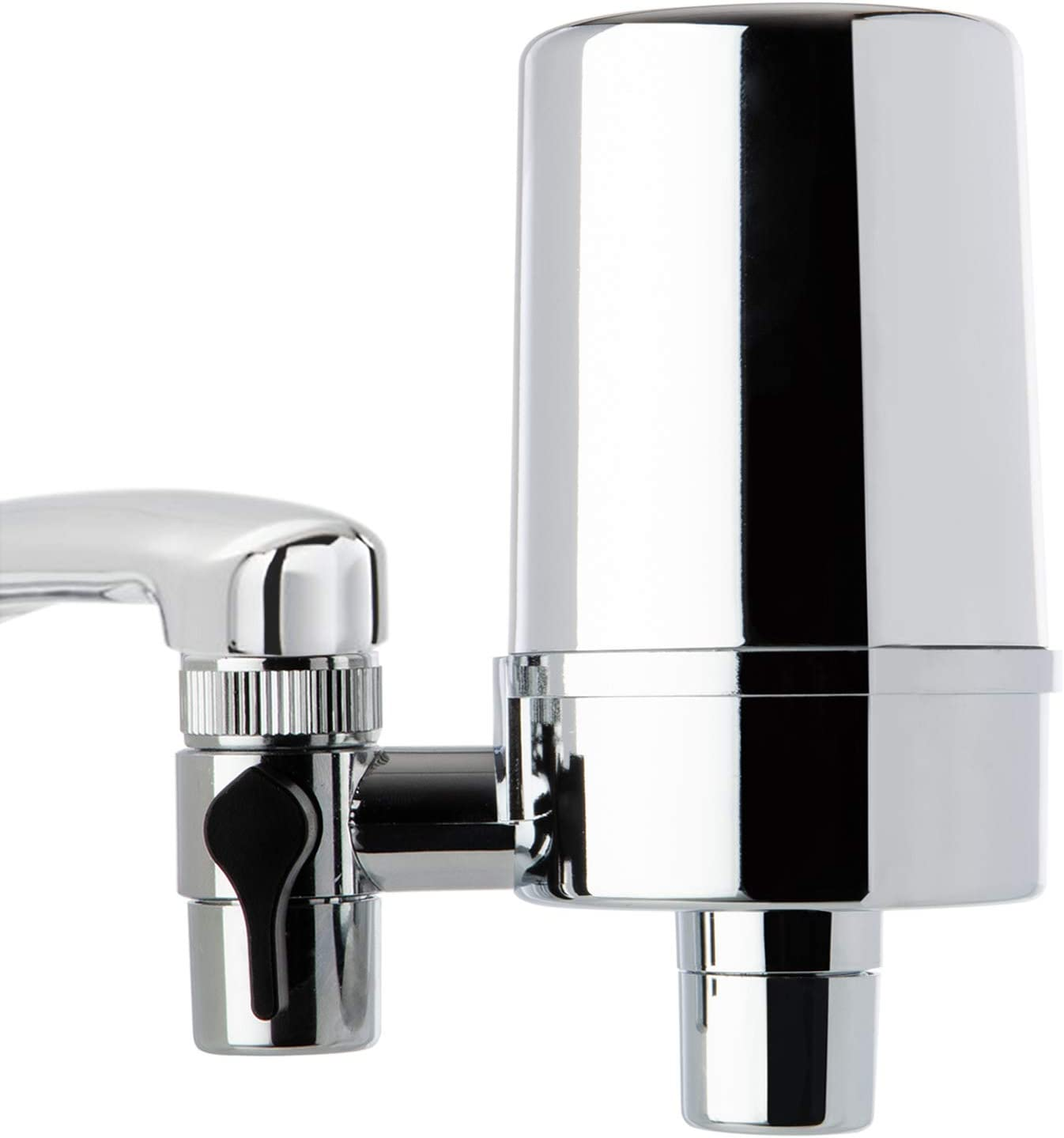 iSpring DF2-CHR Faucet Mount Water Unparalleled Contaminants Removal, 500GAL Filter Life, 1.5GPM Filtration Rate, Chrome W/Aerator
