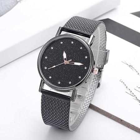 Beisoug Fashion Luxury Inlay Diamond Starry Dial Cuarzo Silicone ...