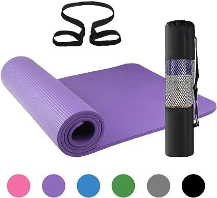 Lixada Esterilla de Yoga Antideslizante NBR Material Medioambiental con Bolsa Cuerda para Fitness Pilates Gimnasio 186 * 61 cm: Amazon.es: Deportes y aire libre