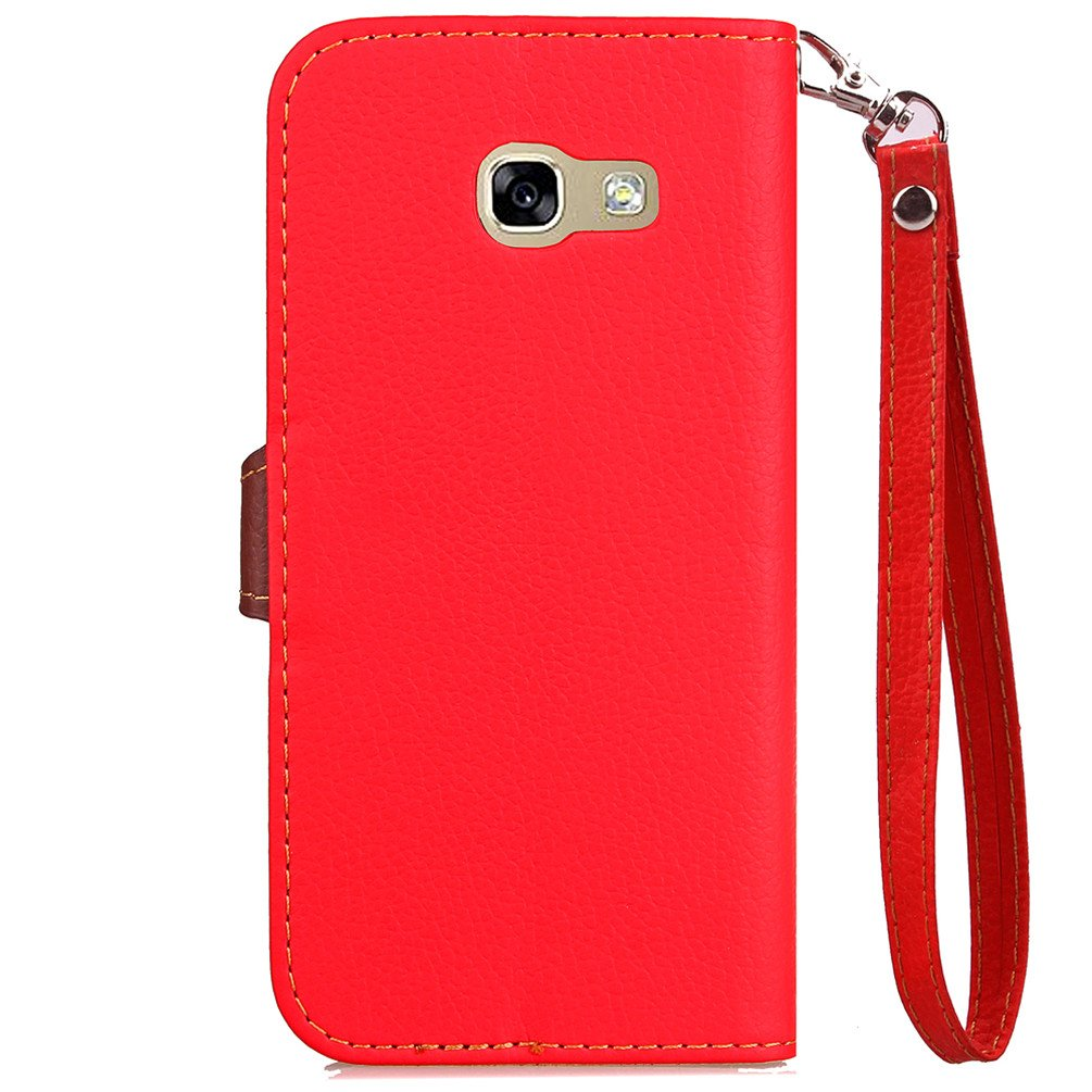 Samsung Galaxy A5 2017 Case EMAXELER Stylish Wallet Case Kickstand Flip Case Credit Cards Slot Cash Pockets PU Leather Flip Wallet Case Stand For ...