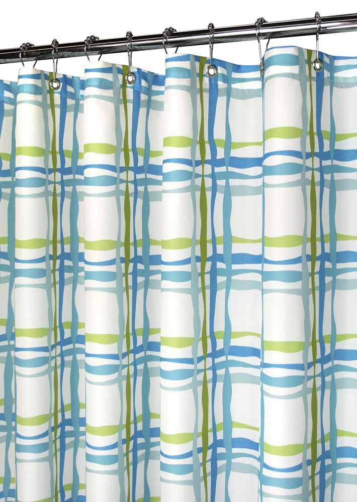 Amazon Com Park B Smith Wavy Plaid Shower Curtain Tangelo Home