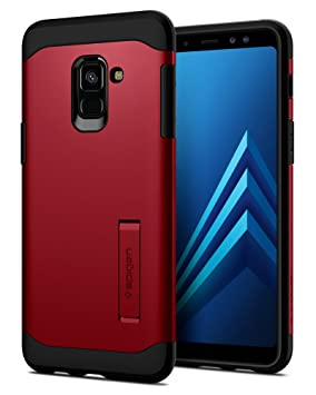 save off c21aa 36c44 Spigen [Slim Armor] [Merlot Red] Case for Galaxy A8 2018, Air Cushion  Technology Hybrid Drop Protection for Samsung Galaxy A8 2018-590CS22808