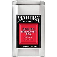 Madura English Breakfast Loose Leaf Tea in Tea Caddy, 1 x 200 g