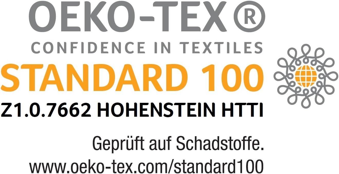 135 x 200 cm Irisette Freiburg Steppbett mit Baumwollbezug Wei/ß W/ärmestufe 4-Jahreszeiten