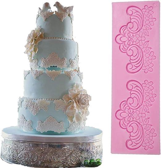 Silicone Lace Cake Mold Sugar DIY Fondant Mat Cake Decorating Baking Tool SU