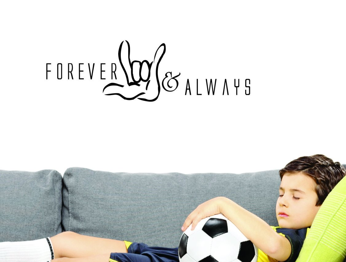 Design with Vinyl JER 1921 1 Hot New Decals Forever & Always Wall Art Size: 10 Inches x 20 Inches Color: Black 10' x 20'
