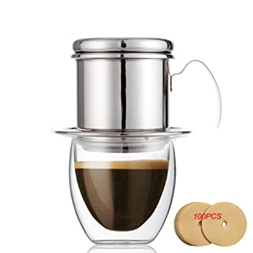 Kaffeefilter Edelstahl amazon de echi kaffeefilter edelstahl vietnamesisch kaffee filter