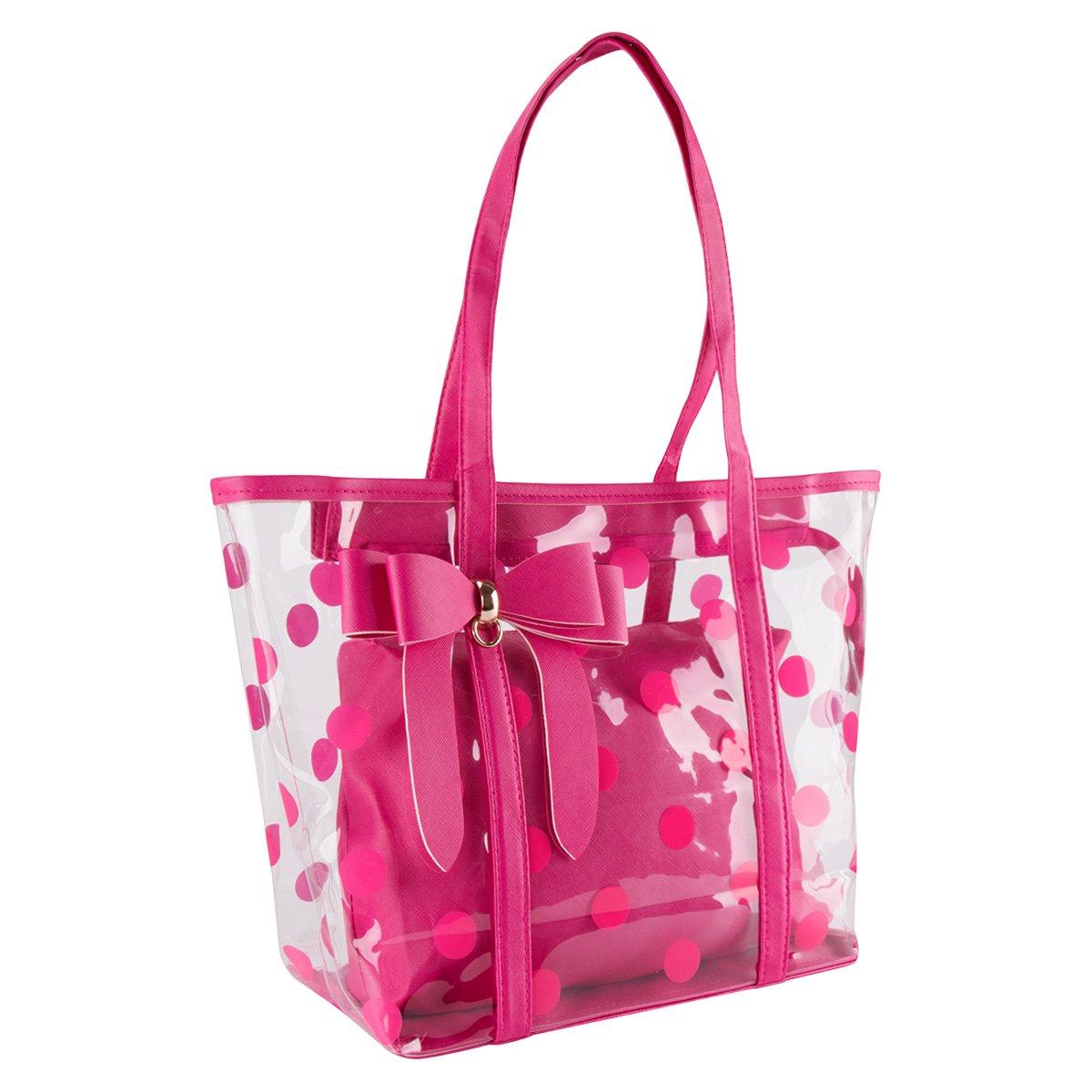 xhorizon FL1 Women Clear Tote Bag Purse Work Bag Waterproof Travel Bag Beach Handbag Gym Sports Bag