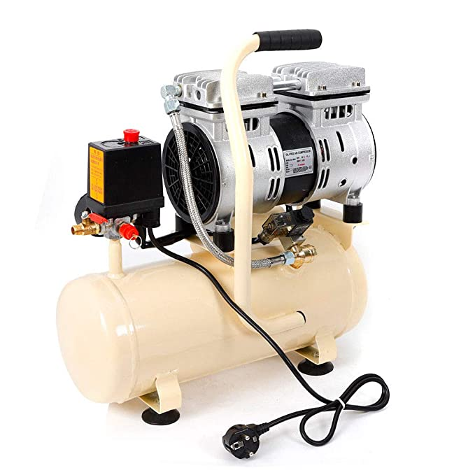 OUKANING Compresor de aire silencioso, compresor de aire, caldera de 8 L, 550 W, 69 dB, móvil silencioso: Amazon.es: Bricolaje y herramientas