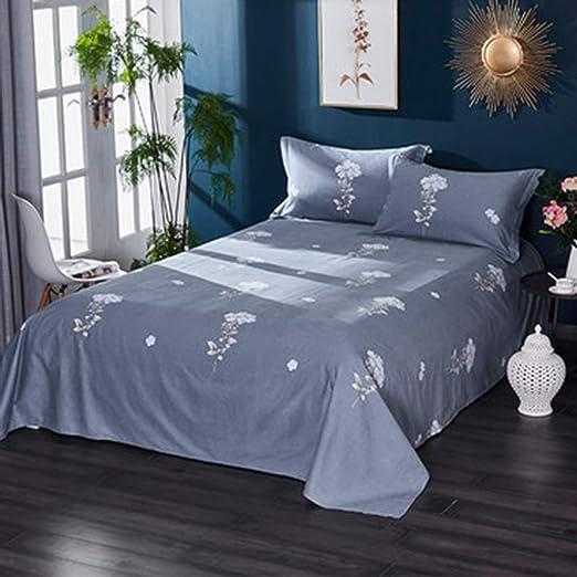 JTWJ Láminas de algodón Engrosamiento Lijado de sábanas Individuales de algodón Doble 1.2m (Color : F): Amazon.es: Hogar