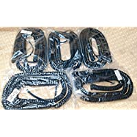 Lot of 5 Mitel Black Glossy 25 Ft LONG Phone Handset Coiled Cord with 4 Tail / Lead for 5000 IP Series EXPEDITED SHIPPING by DIY-BizPhones