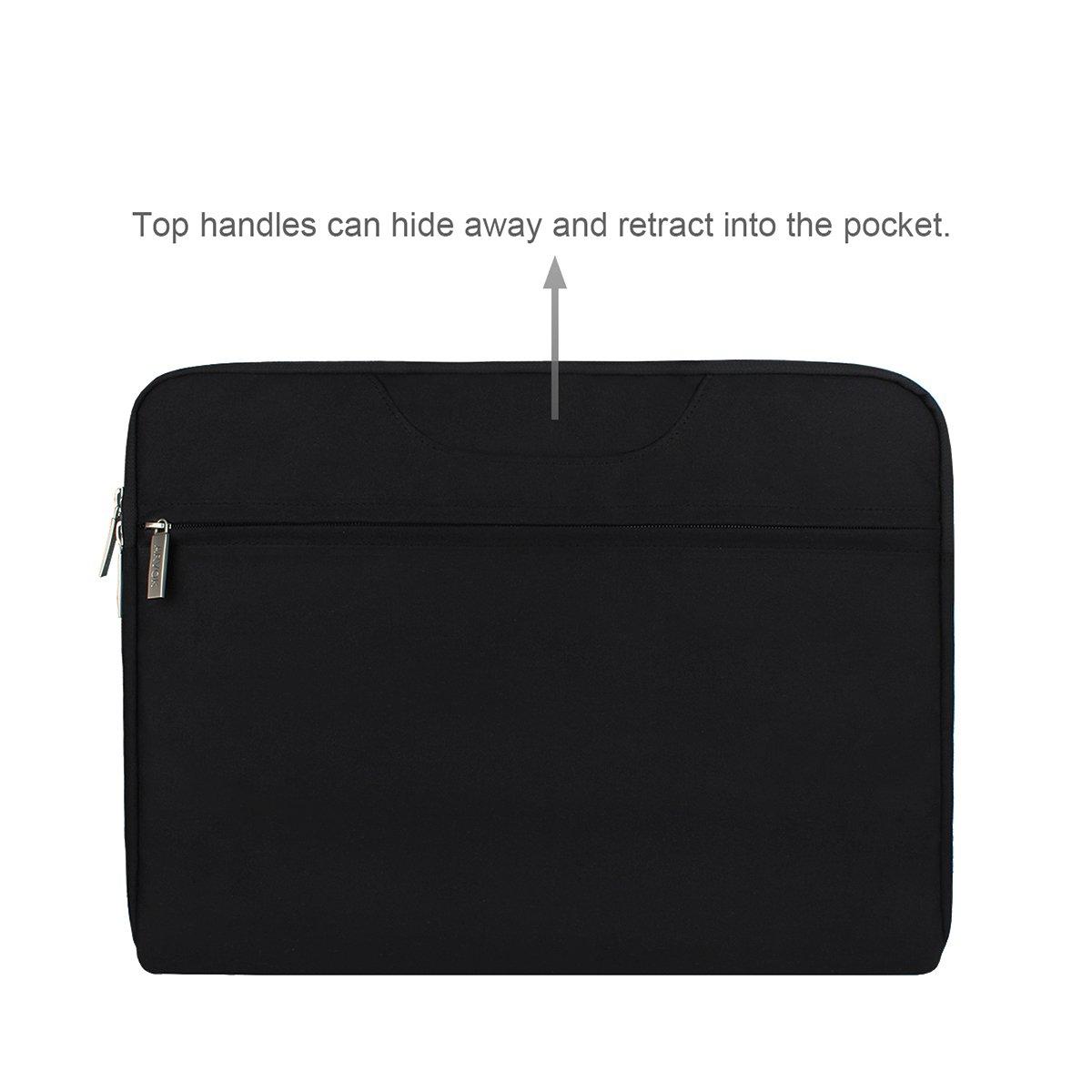 Noir ARVOK 11 11.6 Pouces Housse pour Ordinateur Portable Sacoche Pochette PC avec Poign/ée en Toile de Protection pour Macbook Pro Retina//ASUS//Dell//HP//Lenovo//Tashiba//Sony