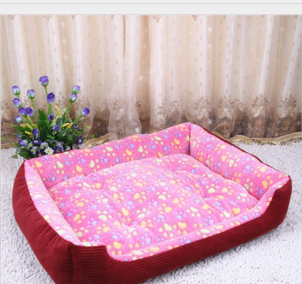 6KG pet),C (60X45X12CM 6KG pet),C (60X45X12CM GZDXHN Kennel Winter Warm Small Medium And Large Dog Pet Nest Thick Dog Bed Cat Litter=