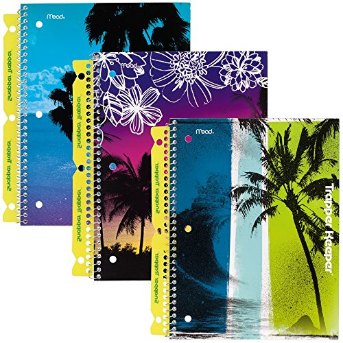 mead-trapper-keeper-notebooks-with-snapper-trapper-fun-in-the-sun-1-subject-wide-ruled-3-pack-73090