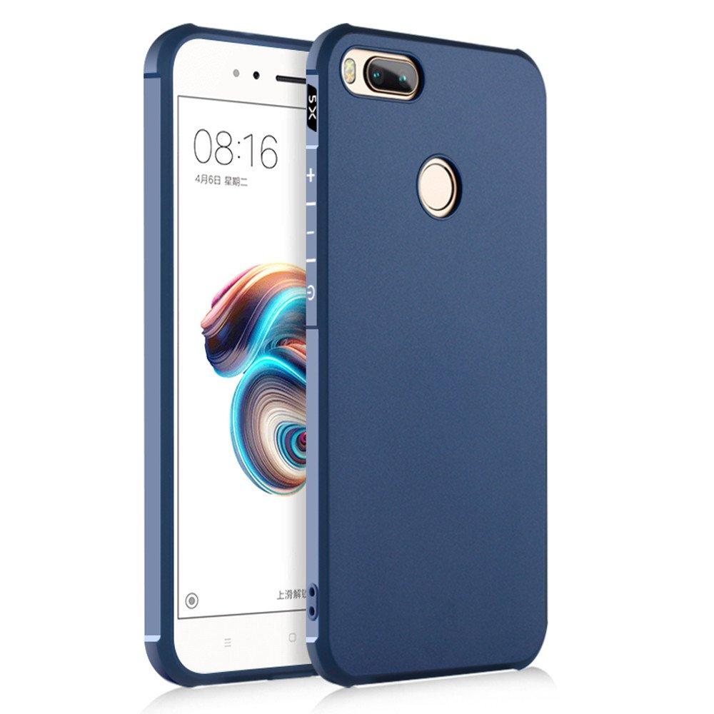 SPAK Xiaomi Mi 5X,Xiaomi Mi A1 Funda,Alta Calidad TPU Ultra Delgado Cubierta de Protección de Silicona para Xiaomi Mi 5X,Xiaomi Mi A1 (Azul)