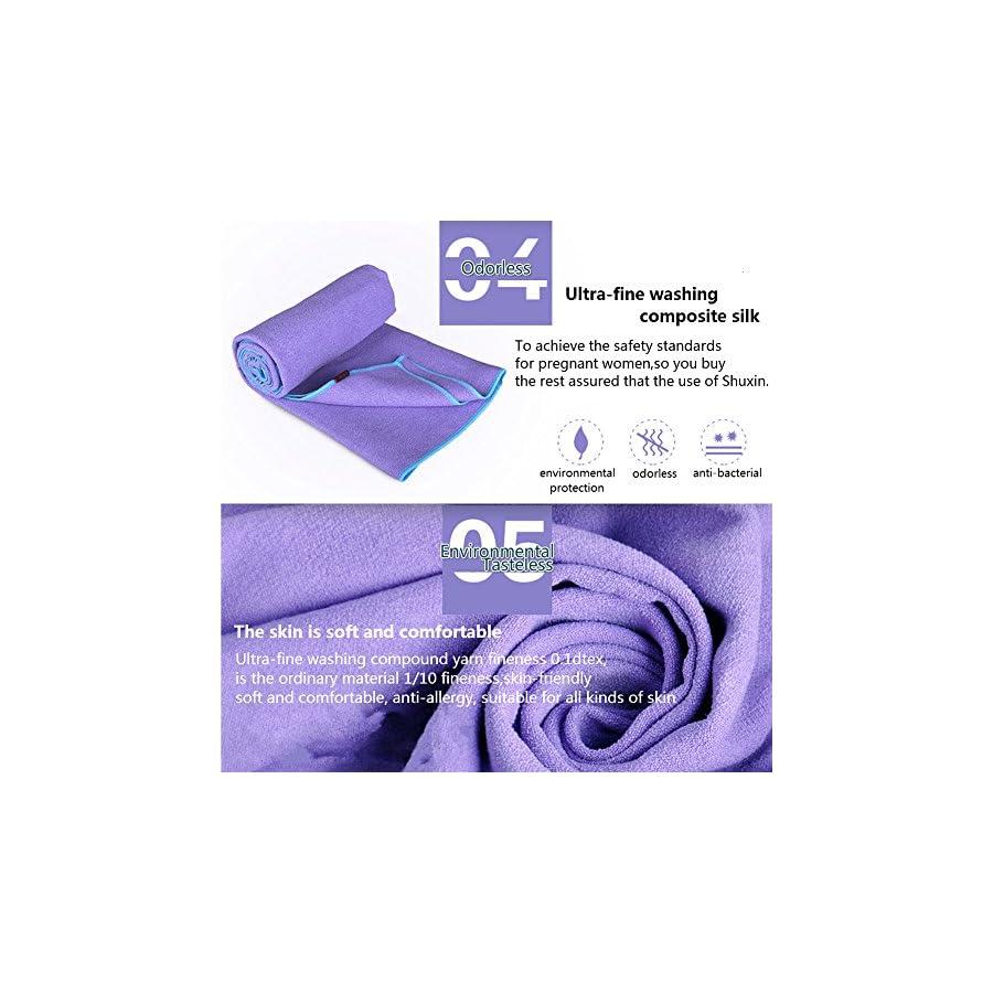 DubeeBaby Non Slip Absorbent Microfiber Hot Yoga Towel for Yoga Mat 24x72 inch