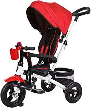 &Carrito de bebé Triciclo de niños Bicicleta Cochecito de bebé 1-3 ...