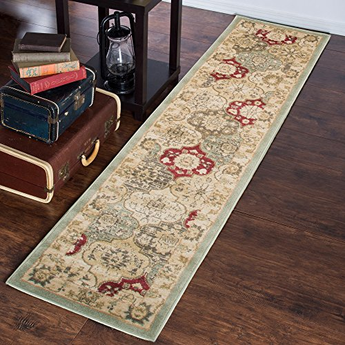 Lavish Home Vintage Round Patchwork Rug, 1'8