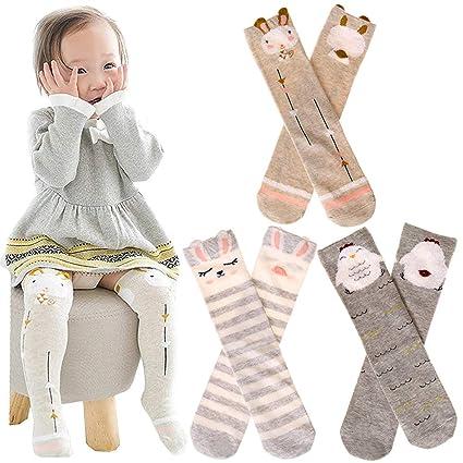 6 pares de calcetines unisex para bebés y niñas, calcetines de ...