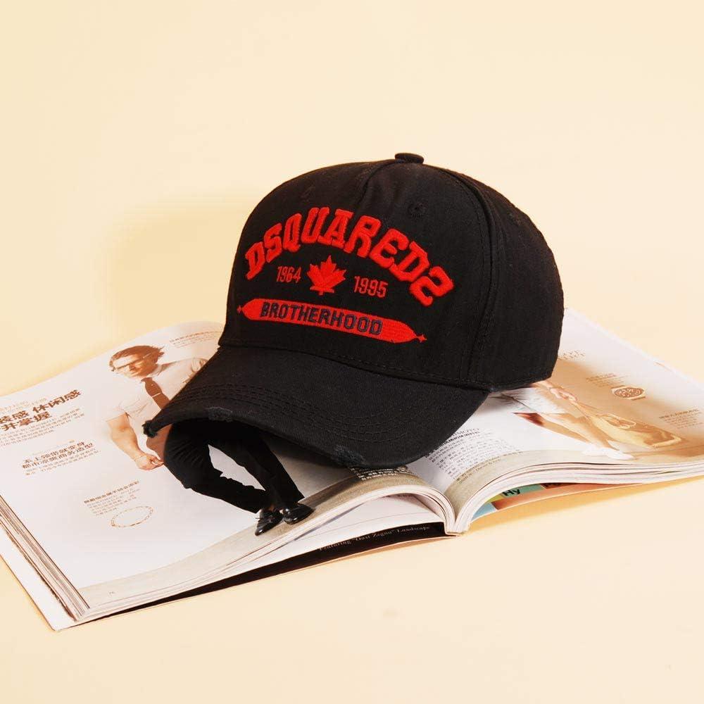 DSQCIOND2 Uomini Donne Pianura Cotone Regolabile Lavato Twill Basso Profilo Baseball cap Cappello Cappelli di pap/à,Red