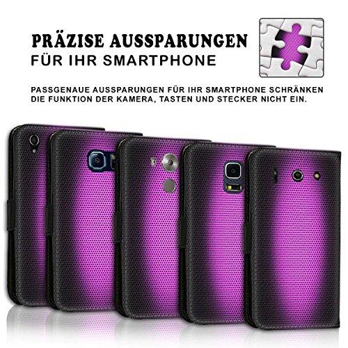 Wallet Book Style Flip Handy Tasche Case Schutz Hülle Schale Motiv Etui für Apple iPhone 6 / 6S - Design Flip MV194