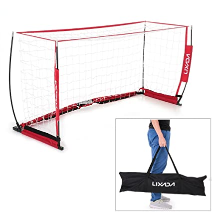 632f05ae2 Image Unavailable. Image not available for. Color: Lixada Soccer Goal  6.6x3.3ft Portable Detachable Bow ...
