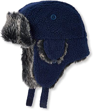 The Children/'s Place Boy/'s Fleece Lined Trapper Hat /& Mitten Set or Scarf
