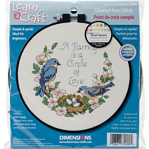 Learn-A-Craft Family Love Counted Cross Stitch Kit: 6