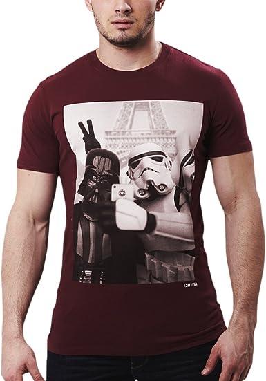 Star Wars - camiseta de autofoto en París - algodón - burdeos - M
