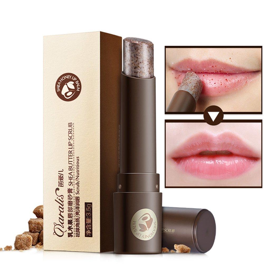 Shouhengda Lips Exfoliator Lips Scrub Stick Gentle Exfoliator Fade Lips Wrinkles Cleaning Dead Skin Lip Care Moist Lips Repaired Cream