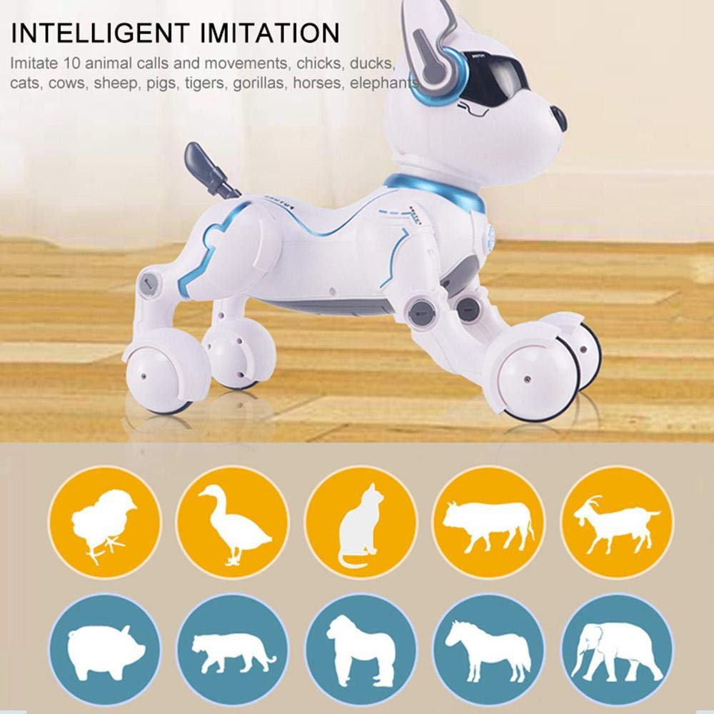 Goglor Smart Talking Robot Dogs, RC Wireless Remote Voice Control Intelligent Toys - Electronic Interactive Pet Puppy Robot Dog for Kids|Educational Sing/Dance/Walk/Study Multi Mode - USB Charging by Goglor (Image #6)